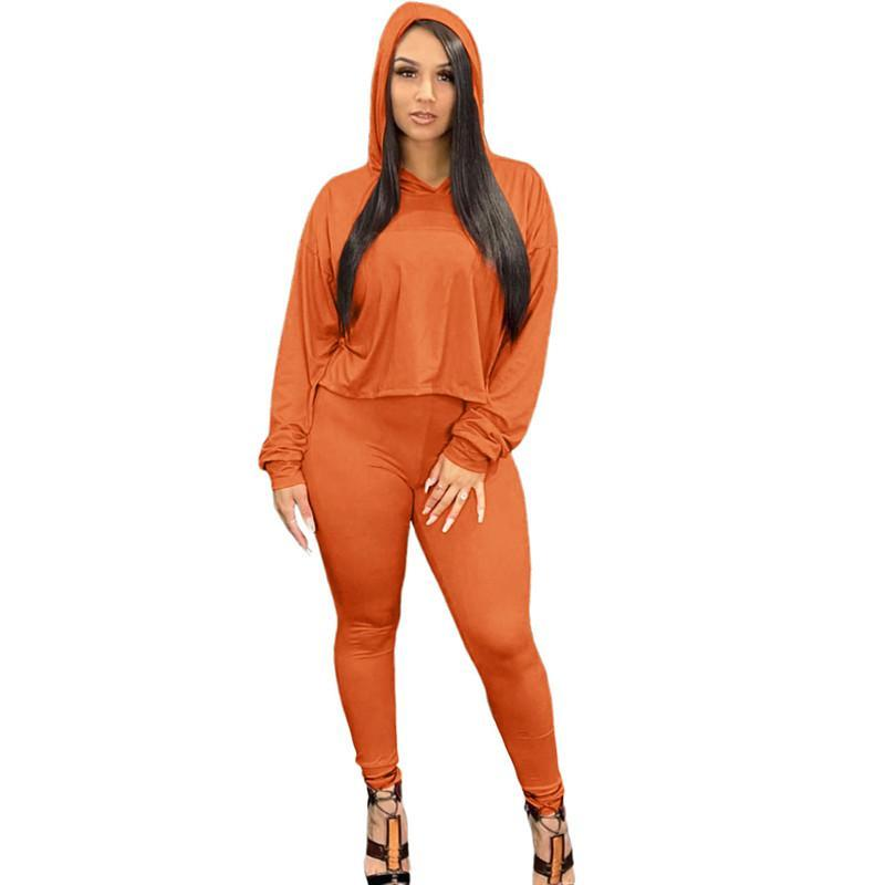 women tracksuit long sleeve outfits shirt pants two piece set skinny shirt tights sport suit pullover pants hot selling klw5835