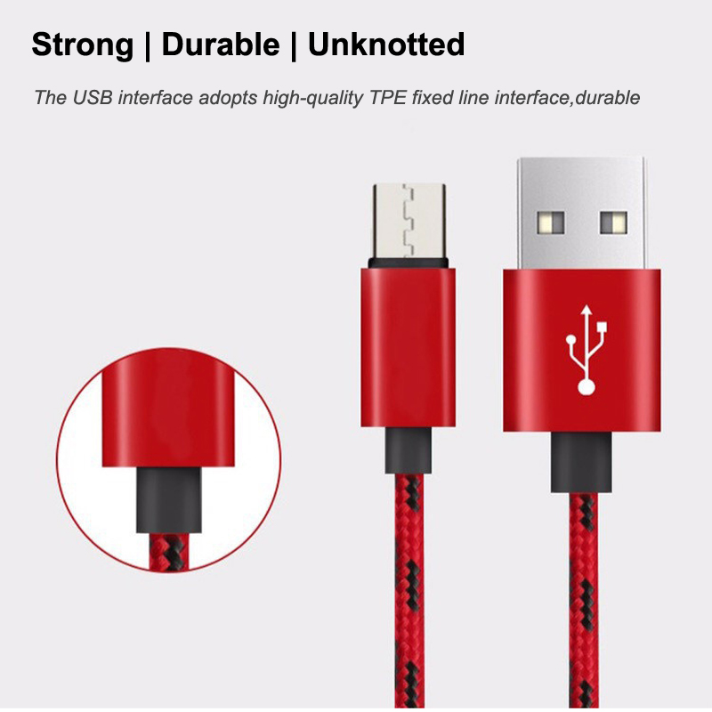 Nylon Braided Micro USB TYPE C Cable Type-C Charging Cables for Android Huawei Xiaomi Samsung Smartphone