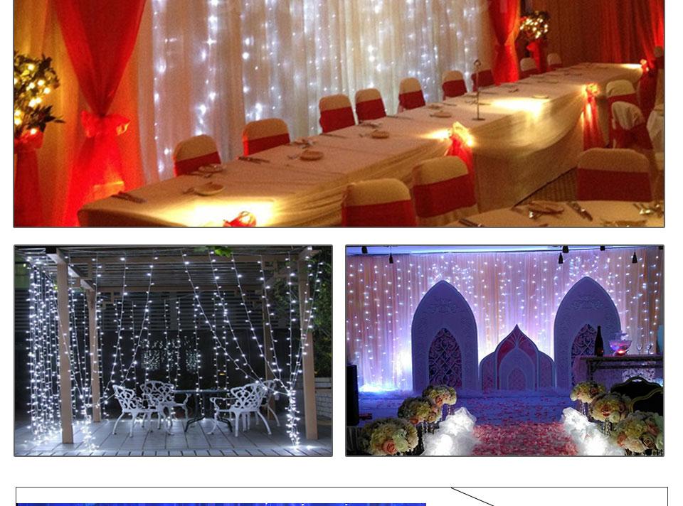 4.5M led wedding fairy string light christmas lights AC 110V 220V Star Led Curtain String halloween Light Decor For Home Party (16)
