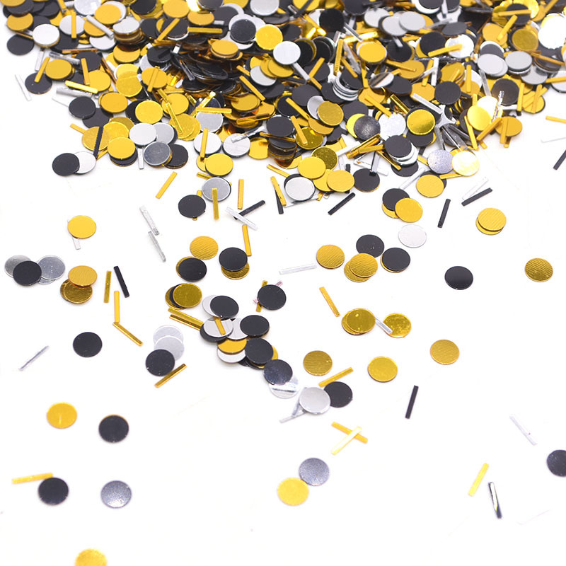 15g/bag Gold Sliver Mini Round Confetti Point Strip for Balloon Baby Shower Wedding Birthday Party Table Scatters Decor Supplies