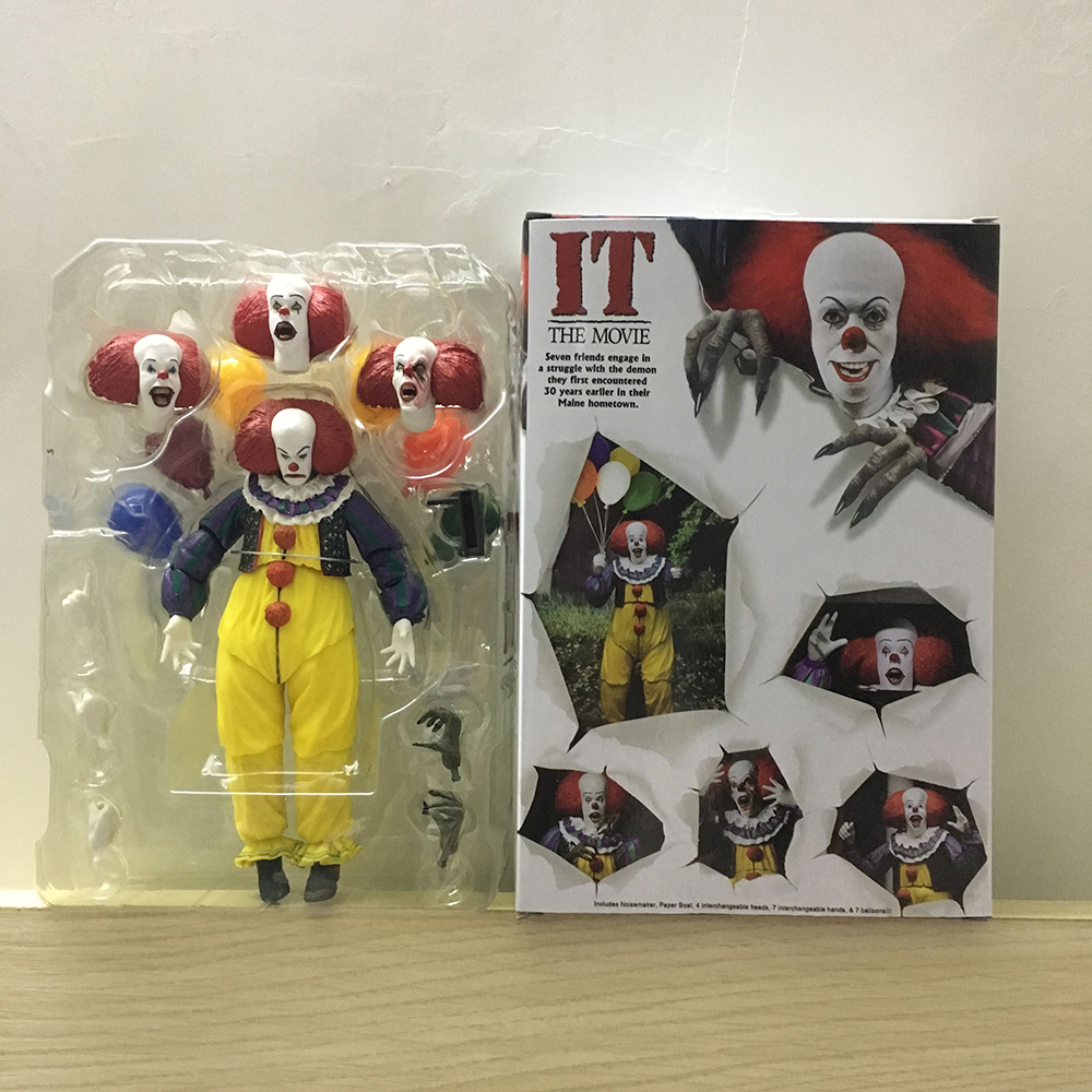 Horror Movie It Character NECA Joker With Balloons Pennywise Action Figure Model Toy for Christmas Halloween Gifts (0000000001)