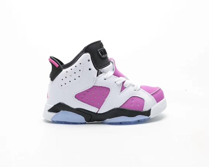 Black Infrared 6 VI 6s Kids Basketball Shoes Oreo White Infrared Carmine Children Bred Trainer Sports Sneakers