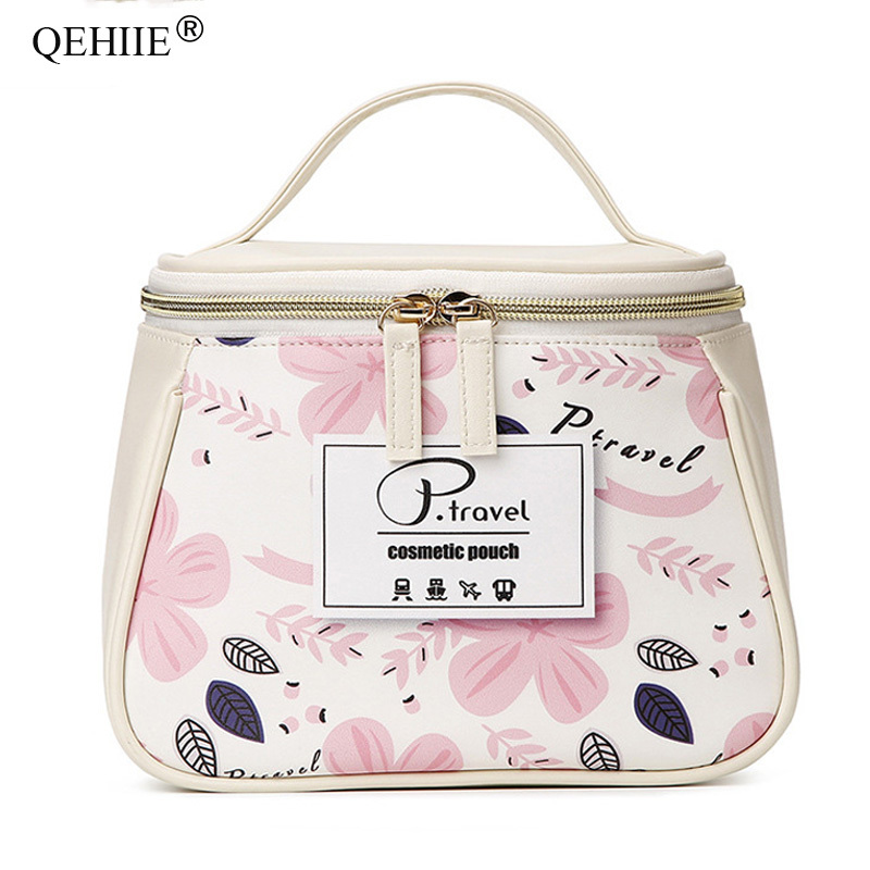 Travel Organizer Cosmetic Bags Cute Girl Makeup Case Fashion Designer Portable Toiletry Bag Stationery Key Purse Zipper Pouch