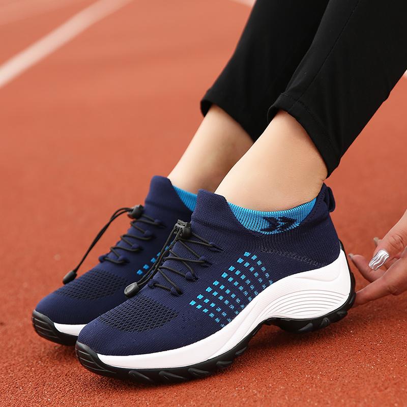 mesh breathable women casual shoes korean platform ladies comfortable sneakers high increasing female moccasins vulcanized woman (1)