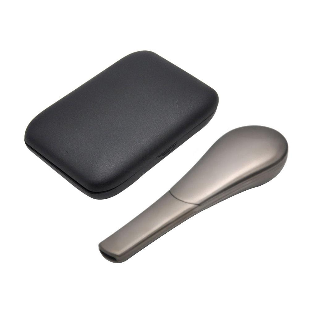 Smoking spoon Pipe with cases Kit Portable Creative Herb Tobacco Cigarette Ignescent Metal pipes for