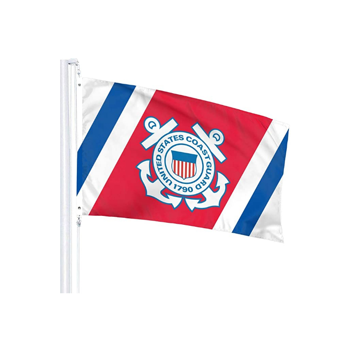 U.S. Coast Guard Veteran Flags 3' x 5' Foot 100D Polyester High Quality With Brass Grommets