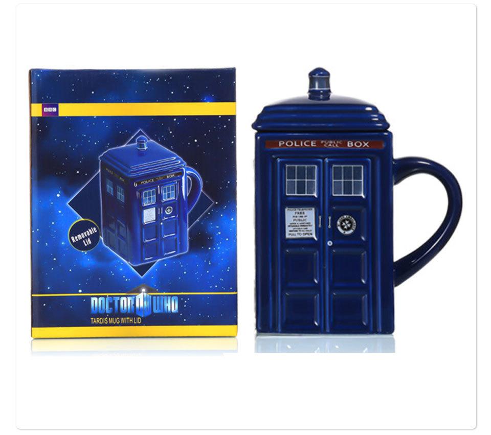 Doctor Who Tardis Police Box Ceramic Mug Cup With Lid Cover For Tea Coffee Mug Funny Creative Gift Christmas Presents Kid Men (11)