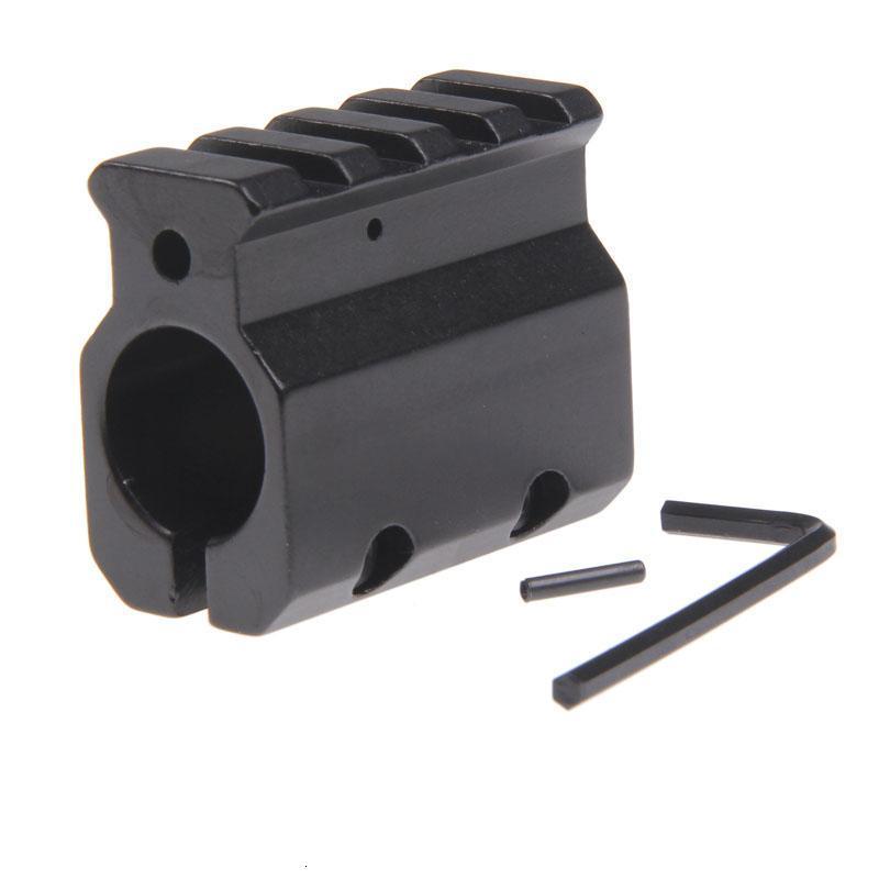 Adjustable Gas Block Single 20mm Picatinny Rail Mounting .223 LR-308 Barrel .750