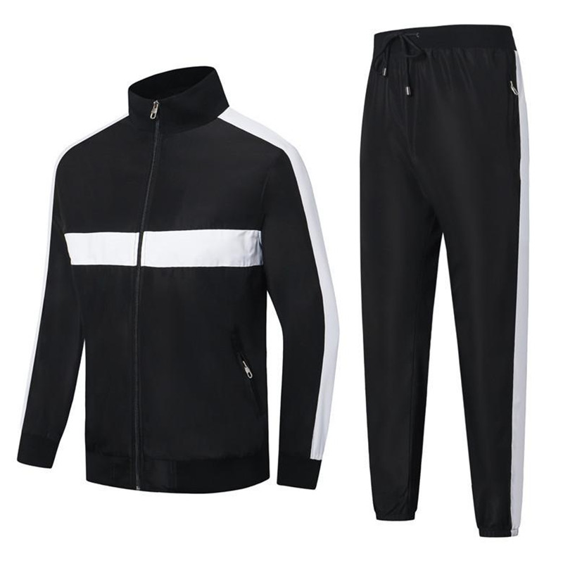 French survetpour homme Stripe Mosaic mens Brand Tracksuits casual spring autumn new white sports classic embroidery mens Brand Tracksuits