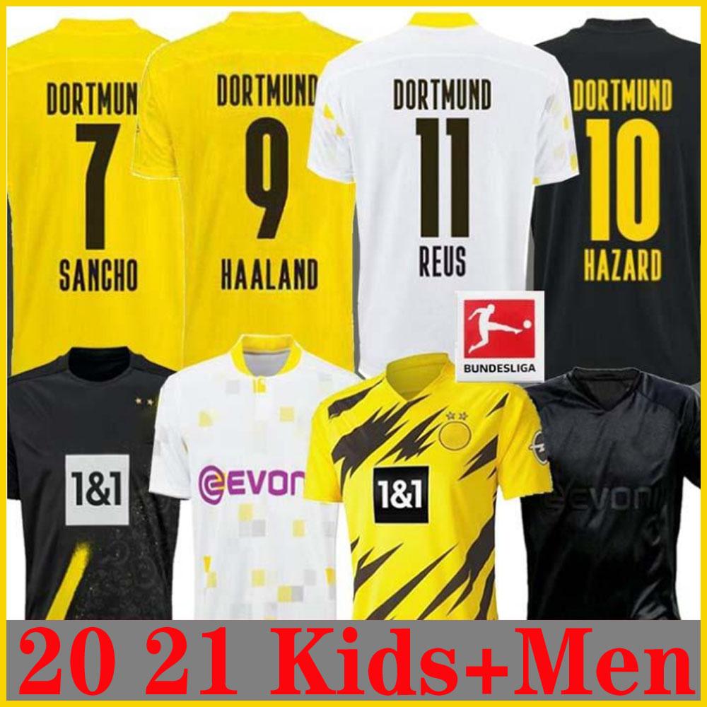 Divisa da Calcio Home Jersey 2020-2021 per Bambini//Ragazzi//Adulti Haaland Reus CBVB Abbigliamento Sportivo da Calcio Divisa Sportiva Personalizzabile