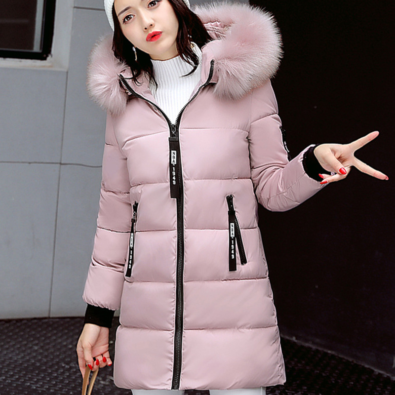 STAINLIZARD Winter jacket women warm casual hooded long parkas women coat streetwear cotton white female jacket coat outwear new (14)