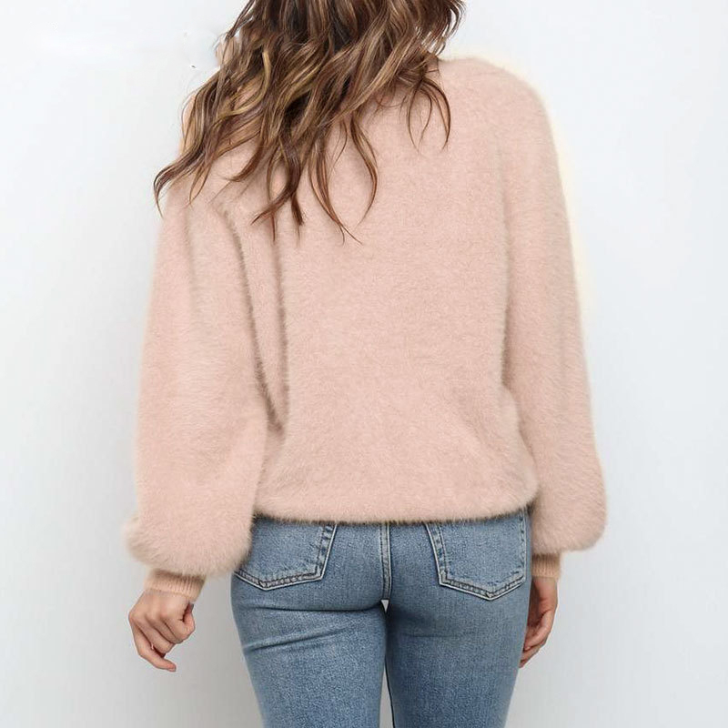 BerryGo-Casual-v-neck-short-women-knitted-sweater-Bat-sleeve-single-breasted-female-cardigan-Solid-c (3)