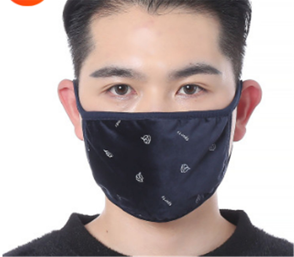DHL Anti-Dust Crystal Velvet Cotton Cloth Face Masks Fashion Printed Mask Unisex Man Woman Cycling Wearing Mask