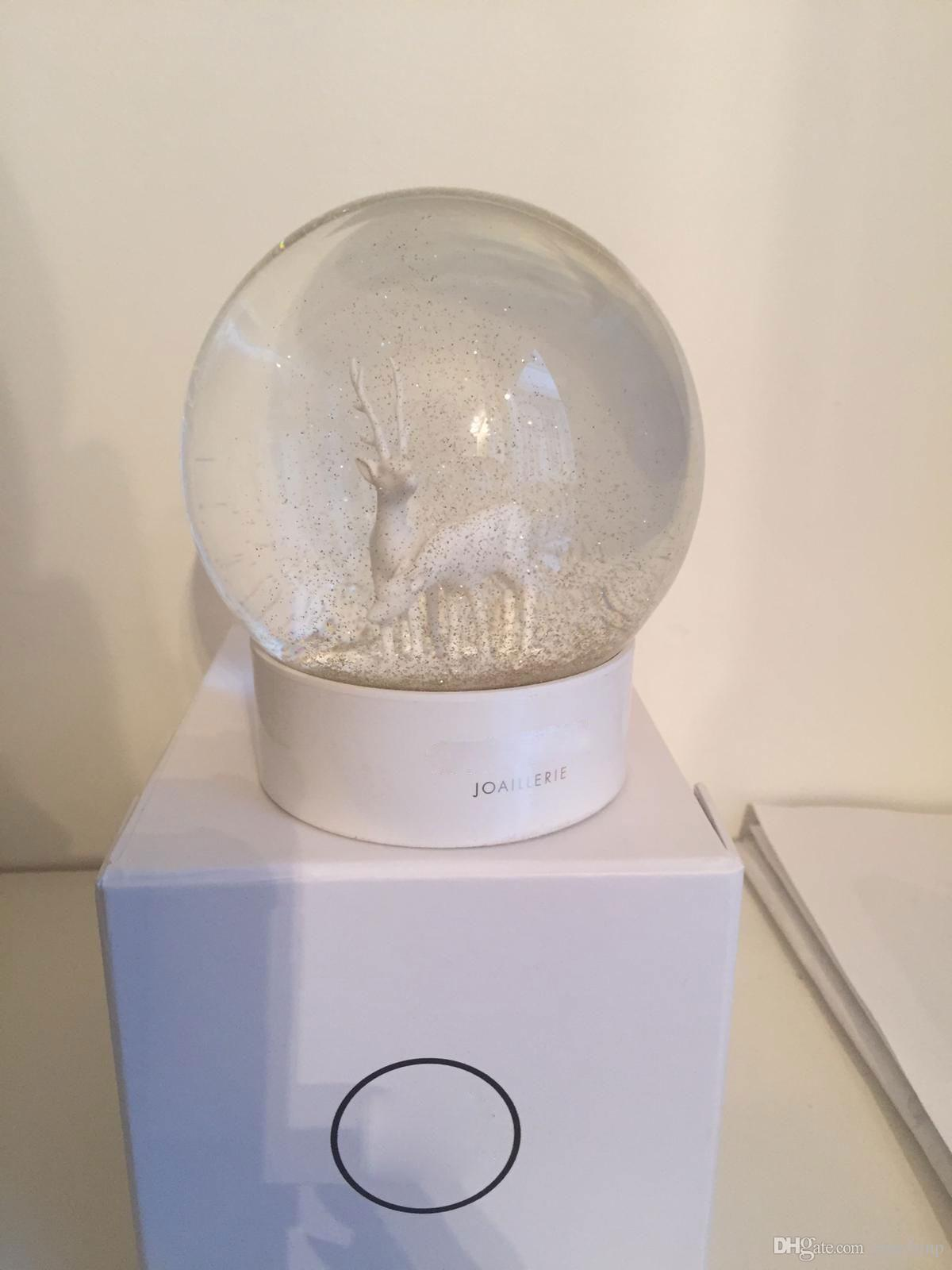 2020 CC Snow Globe The Latest Sika Deer Classics White Crystal Ball With Gift Box Limited Gift For VIP Customer
