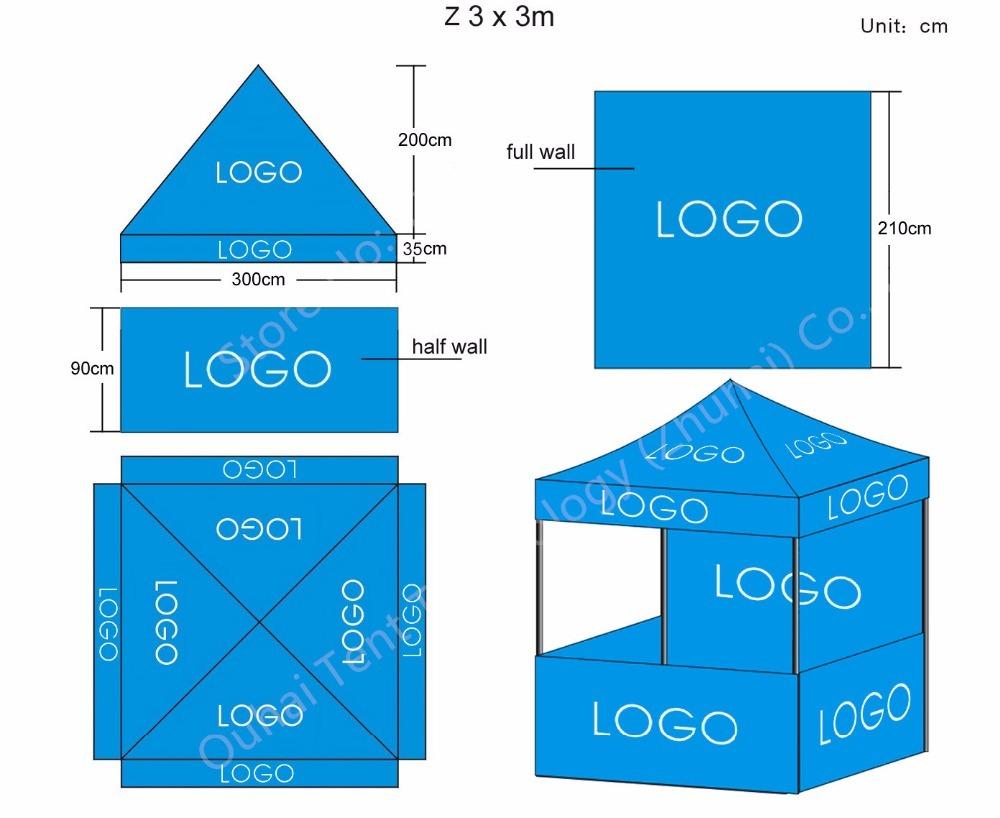 3x3m model printing template_