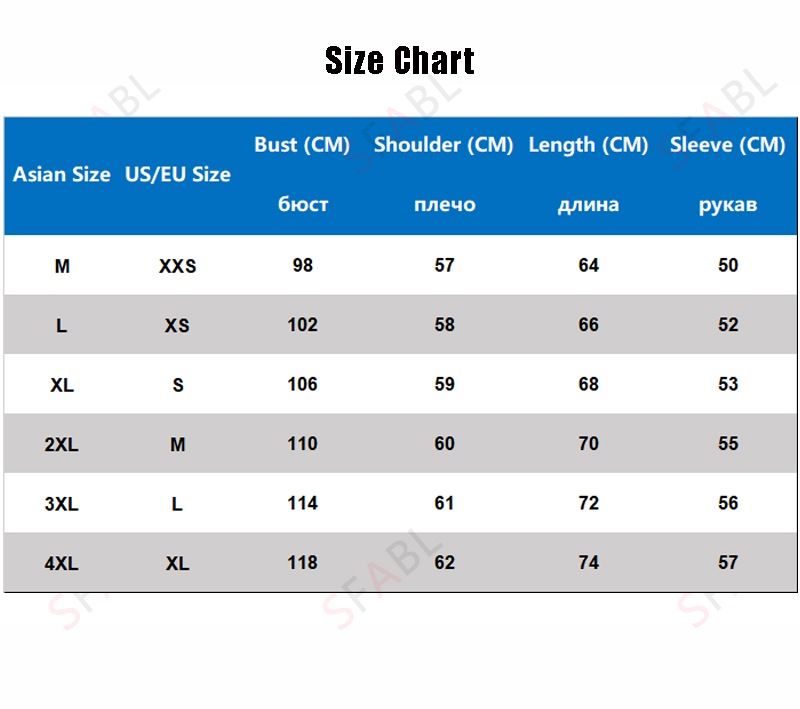 size chart hoodies men