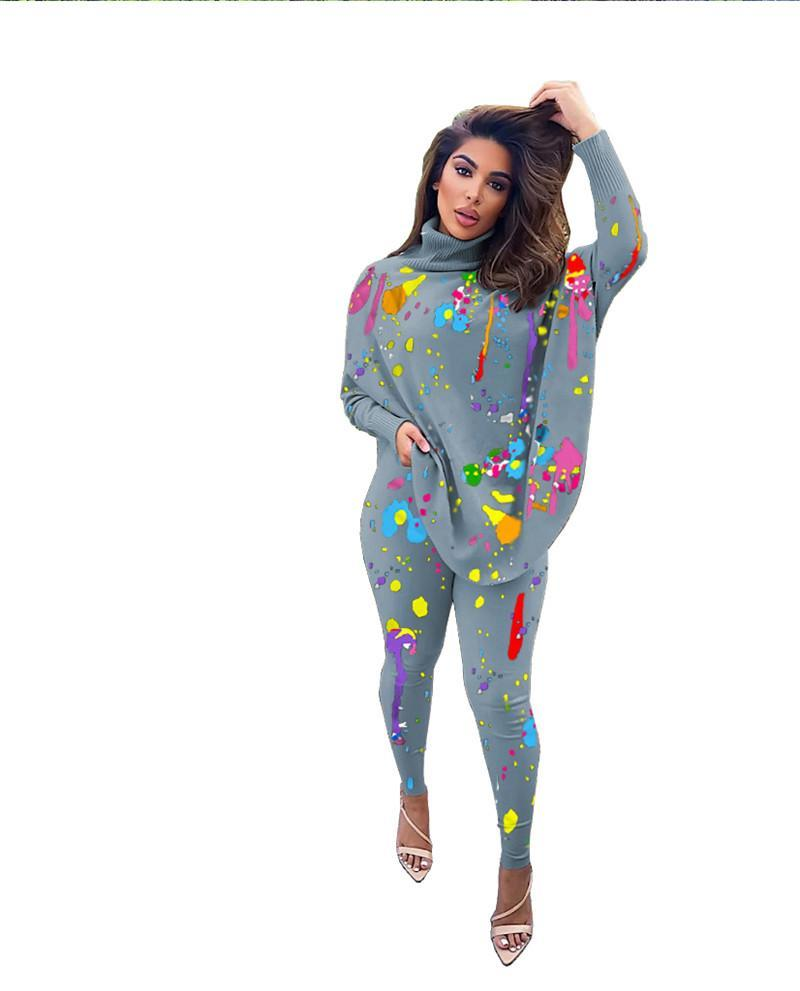 women designer sportswear long sleeve sweat shirt pants tracksuit hoodie legging set bodycon outfits fashion sports set hot klw5652