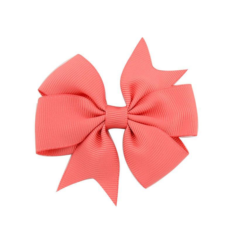Girls Bow Hairs Clip 20 Design Solid Hair Bows Kids Headwear Baby Clips Girls Hair Clips 07