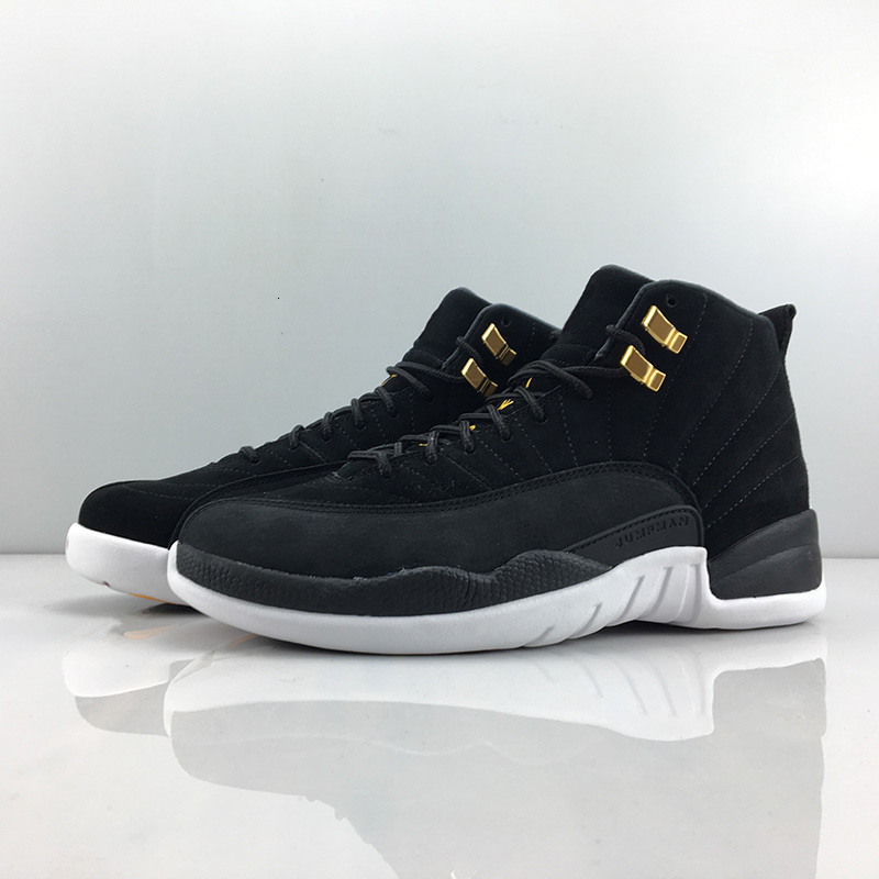 J12 Reverse Taxi Black Gold White Red Jumpman Men Athletic Shoes 12s TWO 3 Men Fashion Sports Sneakers