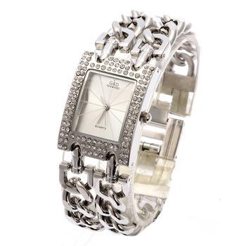 G&D Wristwatches Women Quartz Watch Relogio Femonino Women Dress Watch Top Brand Luxury Gift Rhinestone Reloj Mujer Jelly Silver