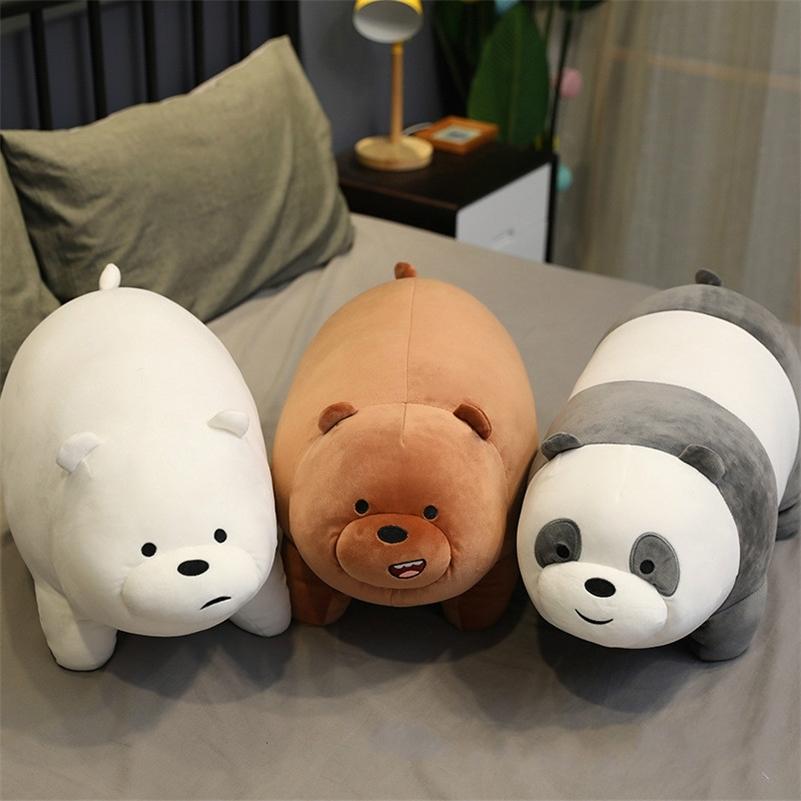 Stand Bare Bear Plush Toys Children Stuffed Animals Cartoon Figure Plush Doll Pillow Soft Cute Plush Stuff Birthday Gift Kids 201215