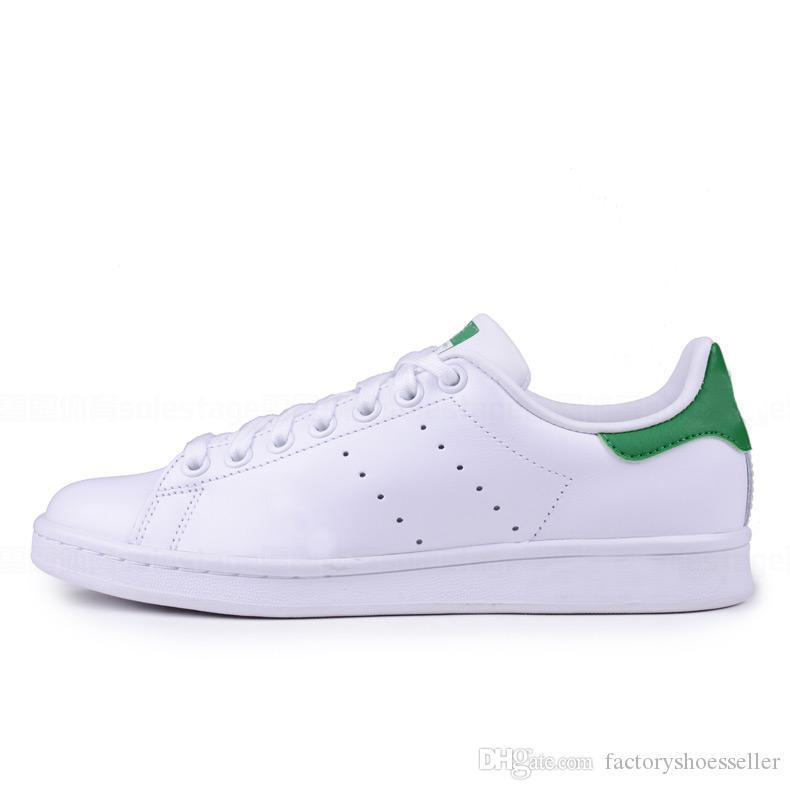 2020 smith stan men women flats sneakers green black white navy red green rainbow mens fashion leather shoes outdoor casual walking Shoes
