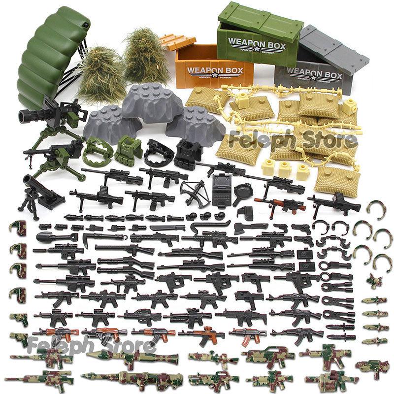 153Pcs-Sandbag-Laptop-Armor-Camouflag-Building-Blocks-Model-Bricks-Military-Army-SWAT-Weapon-Team-Set-MOC-Accessories-DIY-Toy-(5)