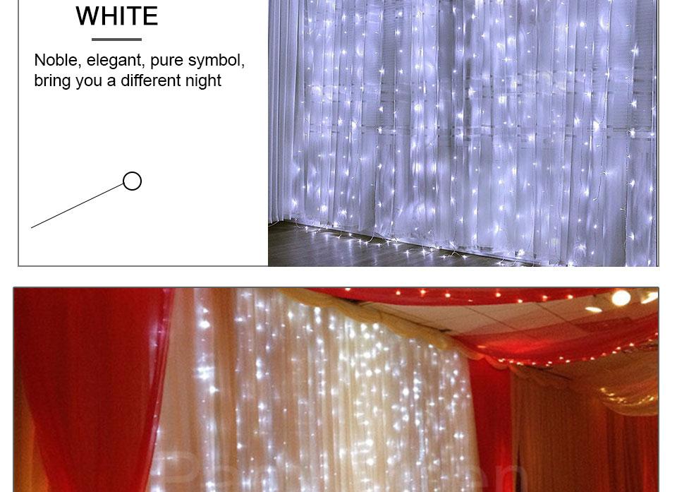 4.5M led wedding fairy string light christmas lights AC 110V 220V Star Led Curtain String halloween Light Decor For Home Party (15)