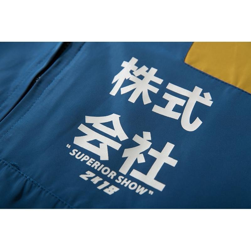 Color Block Patchwork Half Zipper Pullover Jackets 8