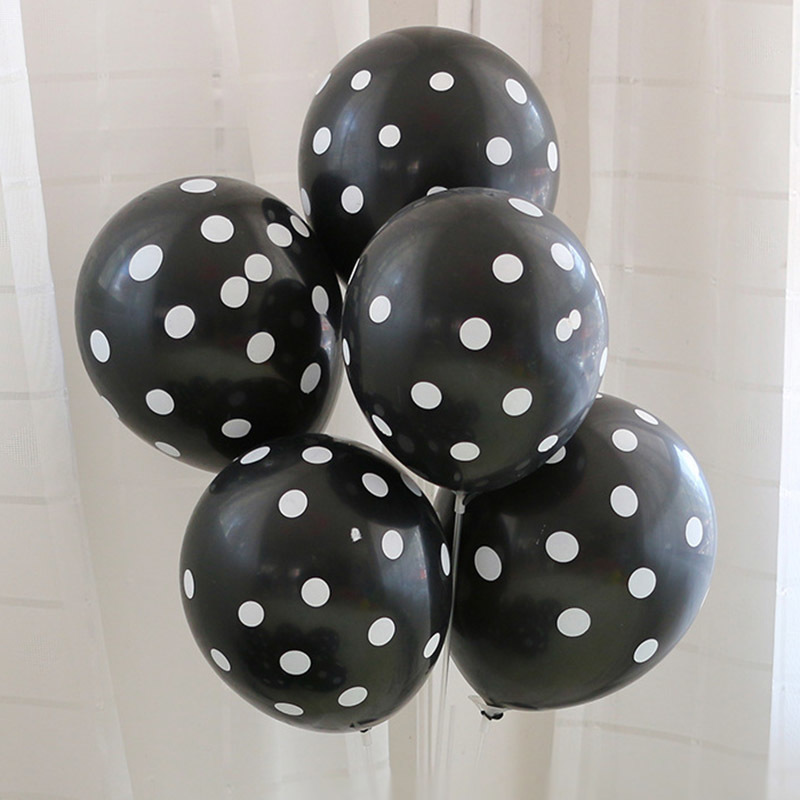 Halloween Decoration Latex Balloons Print Black Orange Wave Points 12 Inches 6 Designs Kids Toys Party Decoration Props 06