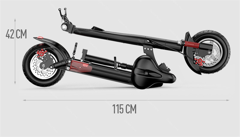 2020 Folding Electric Scooter Two Wheels Electric Scooters 10Inch 500W 48V 60KM Mini Electric Kick Scooter Adult With Bluetooth (8)