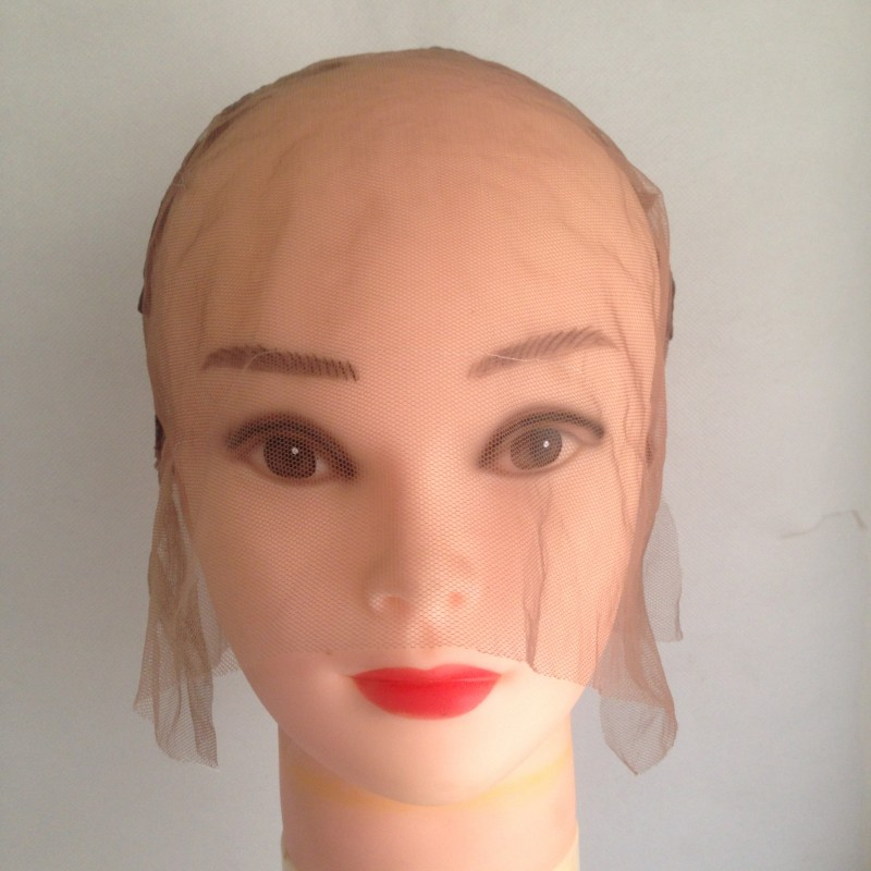 1 pc Full Lace Wig Cap Swiss Lace Hairnet Full Hand Made For Customizing Wigs With Adjustable Straps (5)