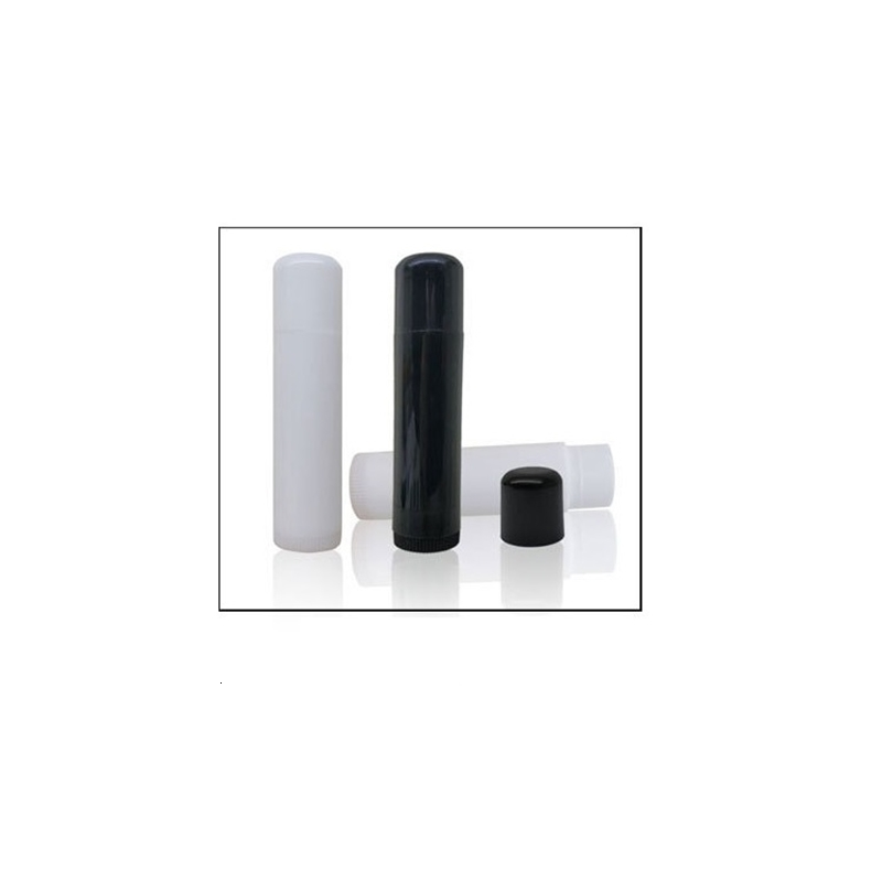 5ML Cosmetic Empty Chapstick Lip Gloss Lipstick Balm Tube and Caps Container black white clear color for shipping