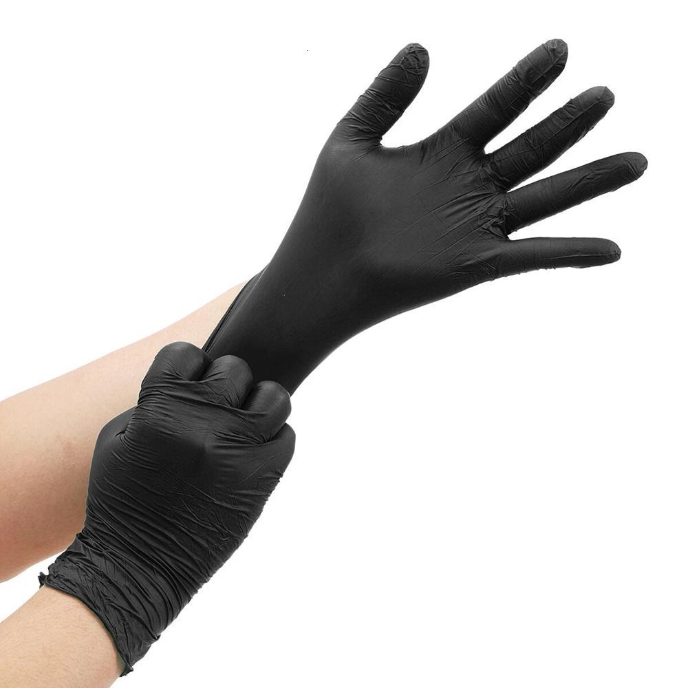 Disposable Nitrile Protective Gloves Powder-free Isolate Oil Bacteria Dust Droplets Glove Personal Health