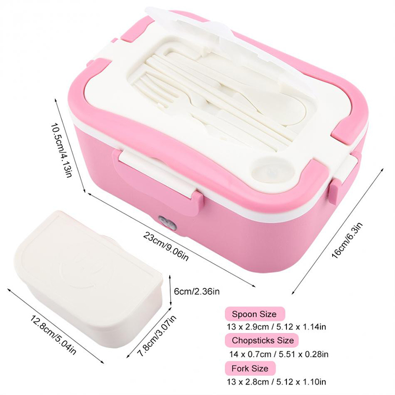 Car heating lunch box Multifunctional stainless steel insulated lunch box car electric lunch box19