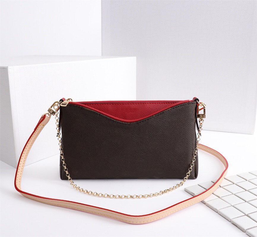 M41638 new hot sale leather fashion wallet PALLAS CLUTCHES bag lady handbag Monograms chain messenger bag lady shoulder bag