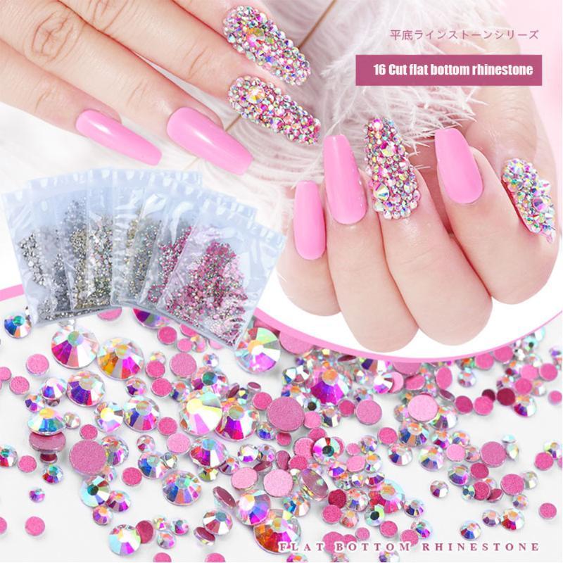 1000 Hot Pink Acrílico Flatback flor Mini 4mm Pedrería Gemas Arte en Uñas Puntas