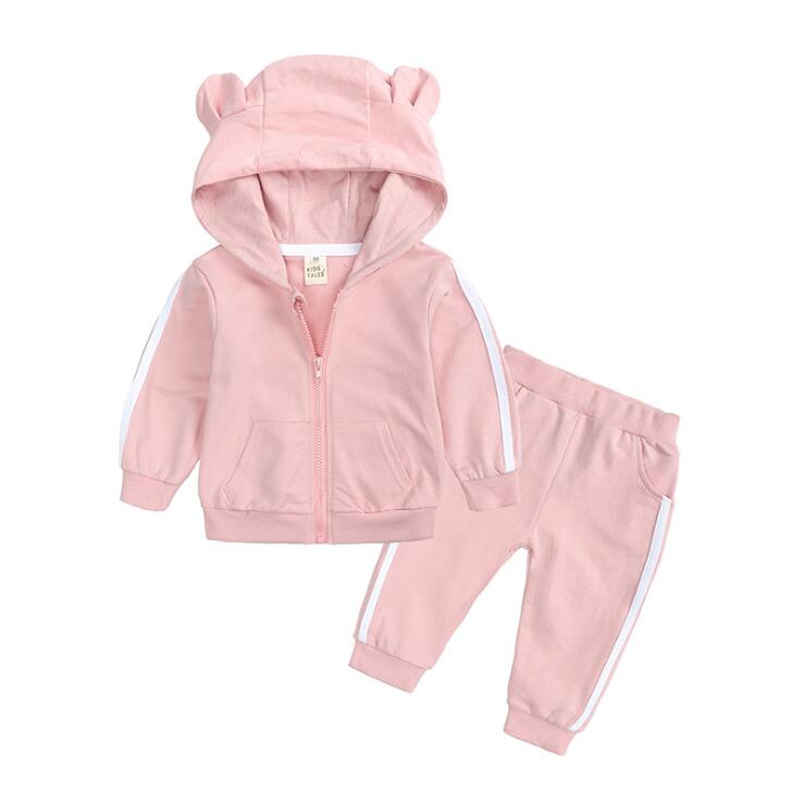Baby Clothes Tracksuit Girls Hooded Tops Pants Outfits Kids Designers Clothing Sets Autumn Cartoon Hoodies Pants Outfits Infant Suits ZYY214