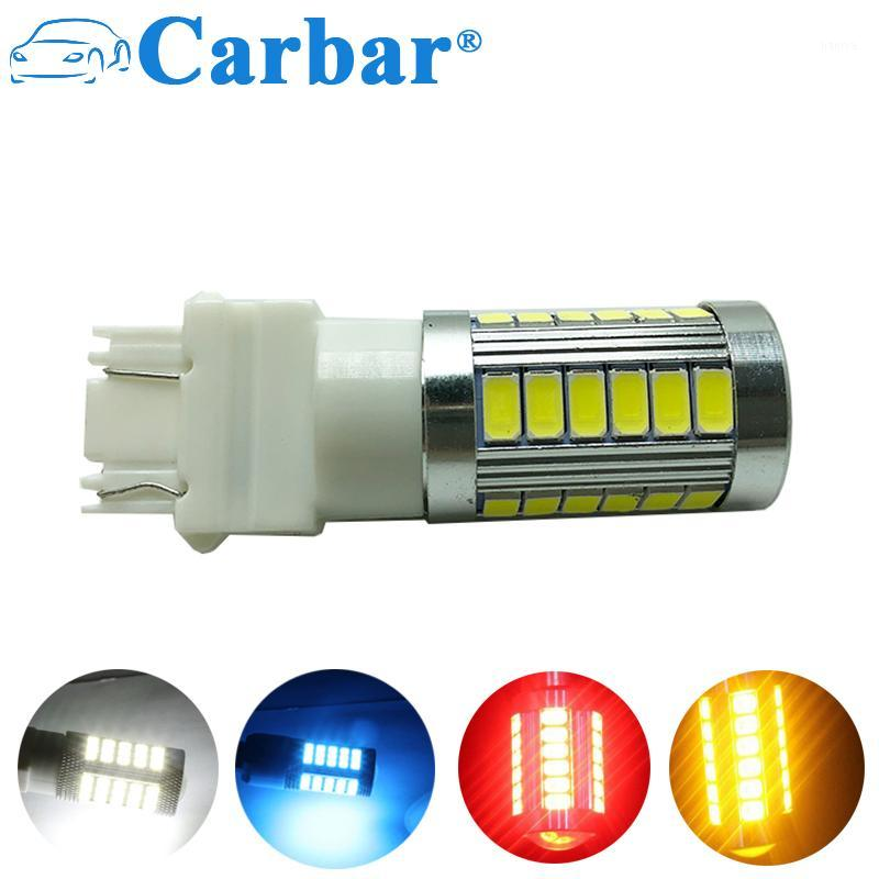 Carbar# T25 3157 33 SMD 5730 LED Car Turn Signal Bulb Brake Lights Reverse Lamps White Yellow Red 12V High Quality1