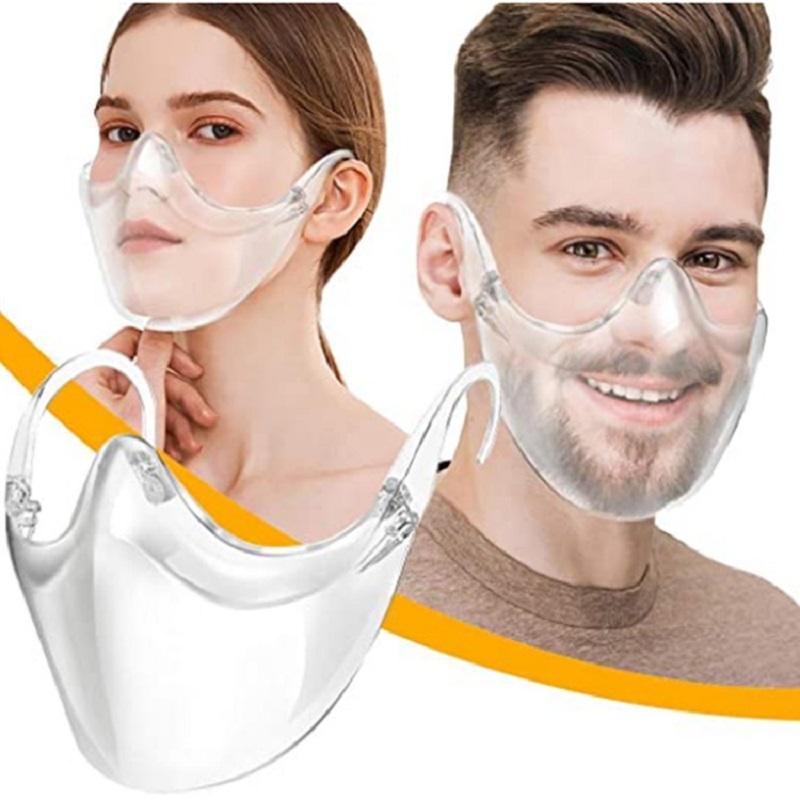 Designer Face Mask Durable Mask Face Combine Plastic Reusable Clear Face Mask Shield Transparent Masks dust-proof saliva