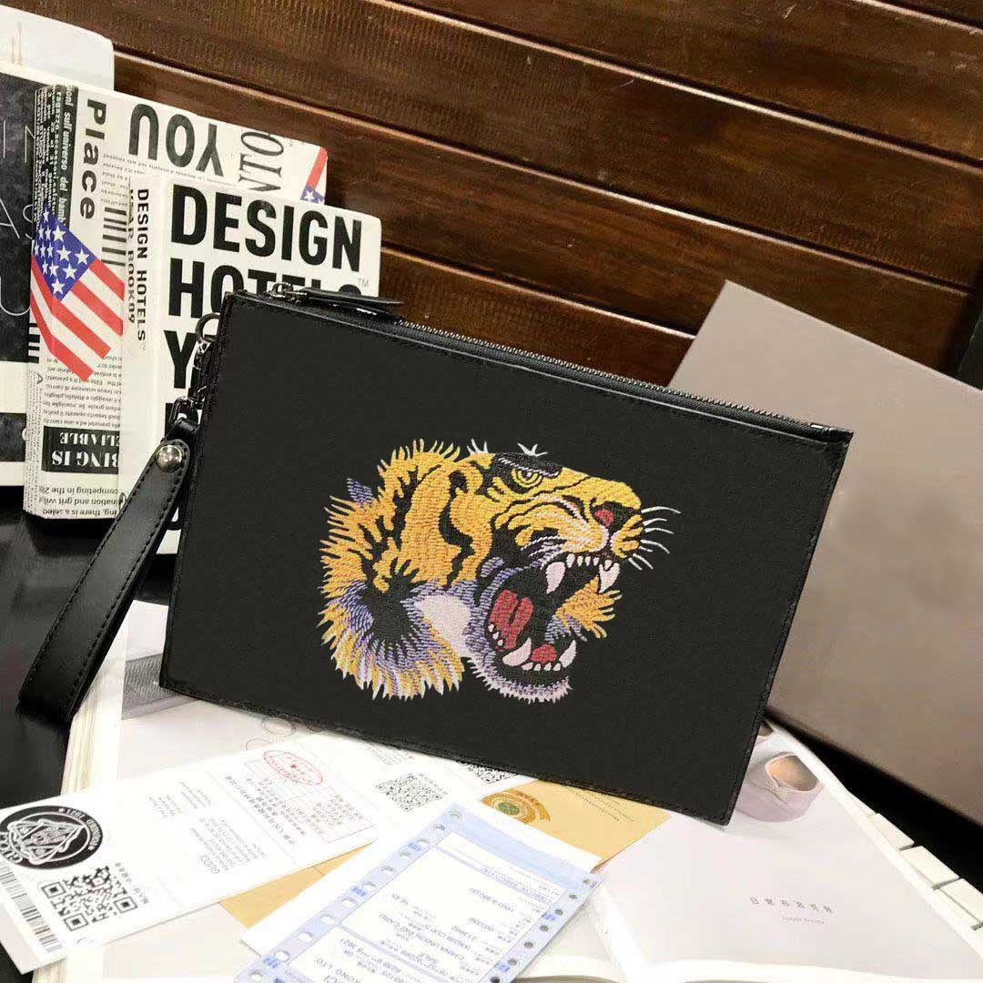 2020 classic brand clutch bag designer brand clutch bag animal pattern bee, tiger, snake, high quality men's and women's clutch bag envelope