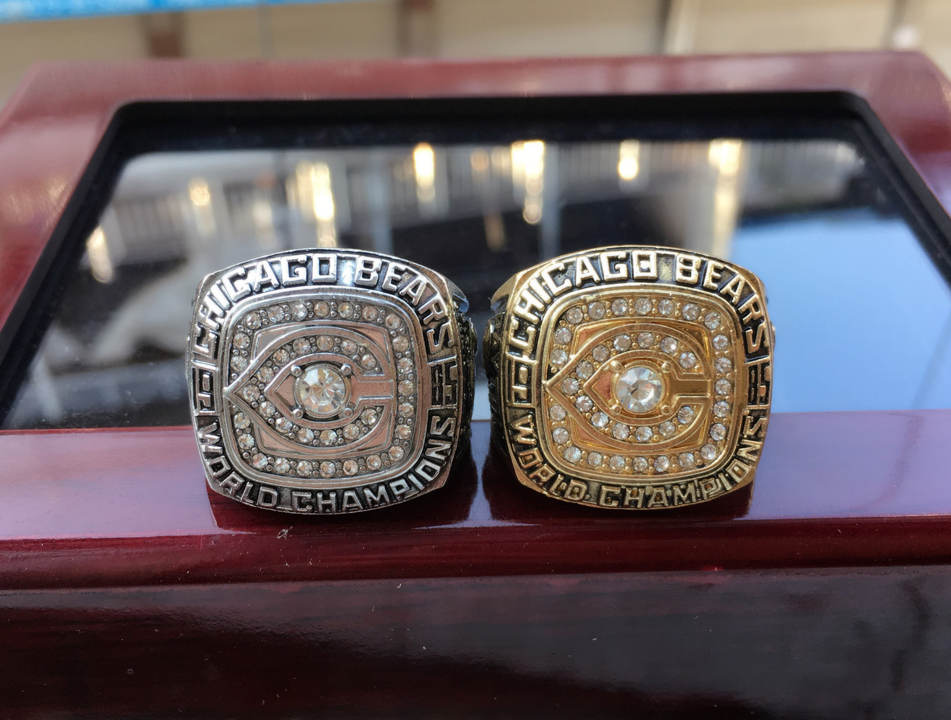 CHICAGO (2pcs) 1985 1985 BEARS Championship Ring g Set Men Fan Souvenir Gift Wholesale 2019 Drop Shipping