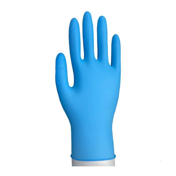 Hot sale Disposable Nitrile latex gloves 3 kinds of specifications optional without powder rubber Anti-skid anti-acid gloves Y2I10012