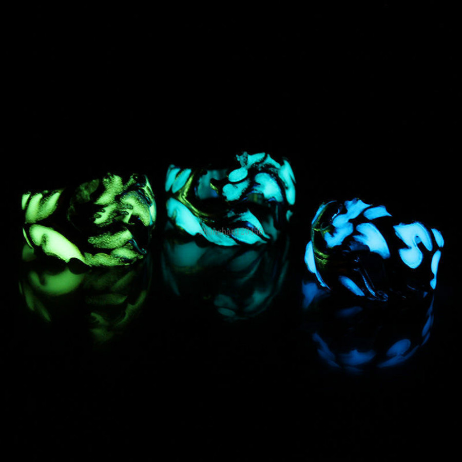 Fluorescent Light Dragon Ring Band Glow in the Dark Dragon Ring hip hop Fashion Jewelry for women men will and sandy new
