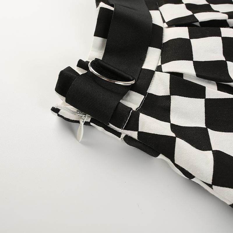 12Sweetown Korean Fashion Checkerboard Pleated Skirts Womens Sashes High Waist Zipper Cotton Short Skirt Woman Summer Skirts