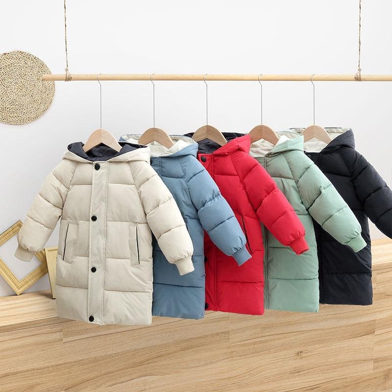 CROAL CHERIE Warm Long Jacket Coat Baby Girls Boys Parka Kids Jacket Hood Winter Children Jacket Winter Fall Toddler Outerwear (2)