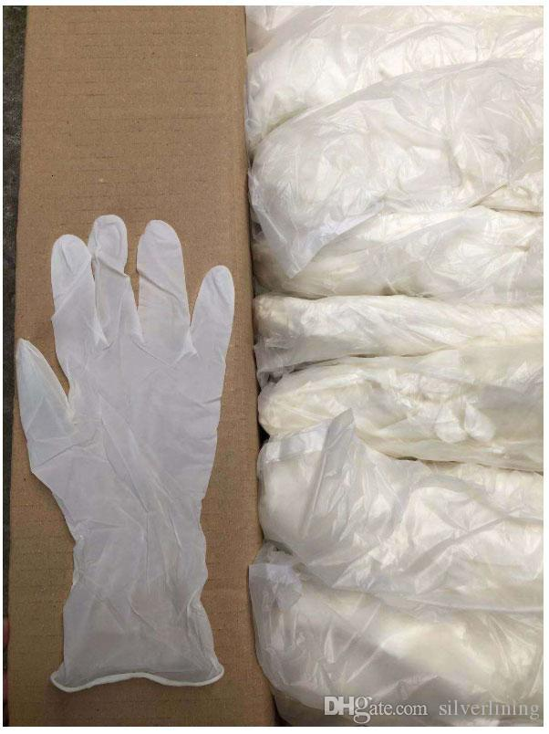 Women Men gloves disposable gloves and desechables dishwashing rubber catering rubber plastic food thickening nitrile gloves