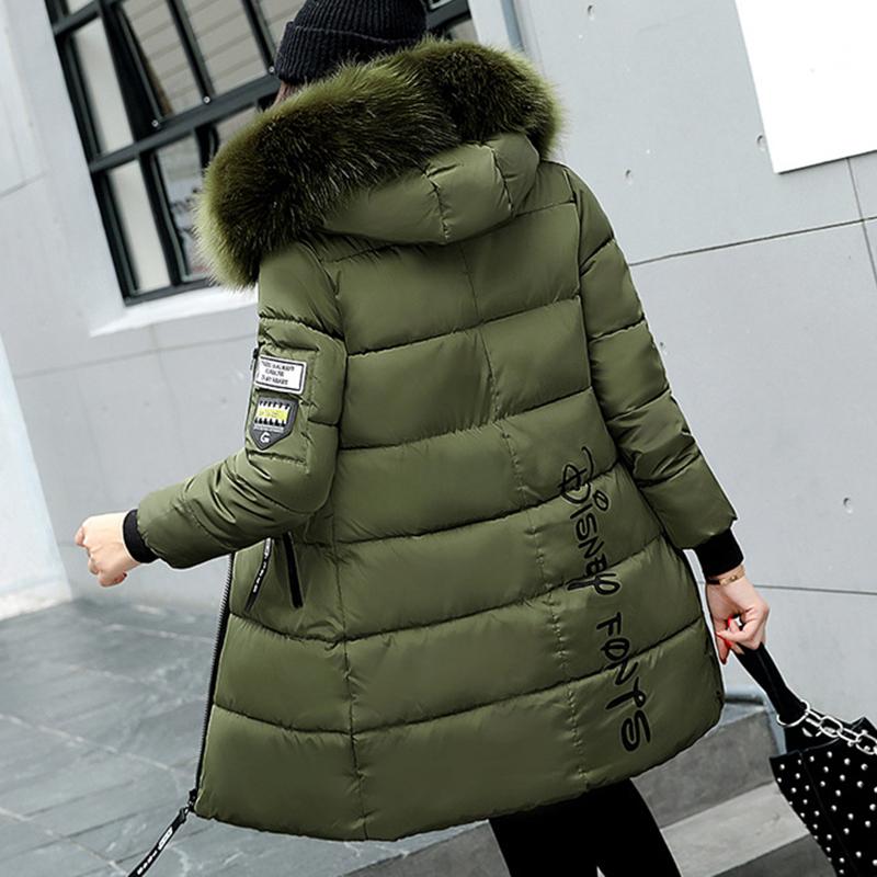 STAINLIZARD Winter jacket women warm casual hooded long parkas women coat streetwear cotton white female jacket coat outwear new (31)