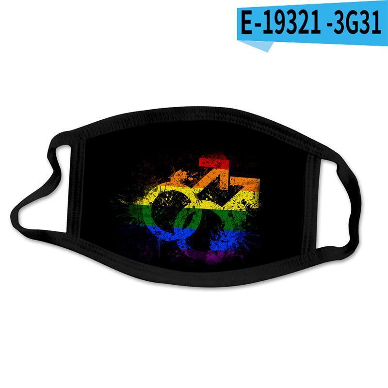 LGBT gay people 3D printing Designer face mask cotton reusable face masks Out Door Sport Riding Masks Fashion Cotton Designer Mask