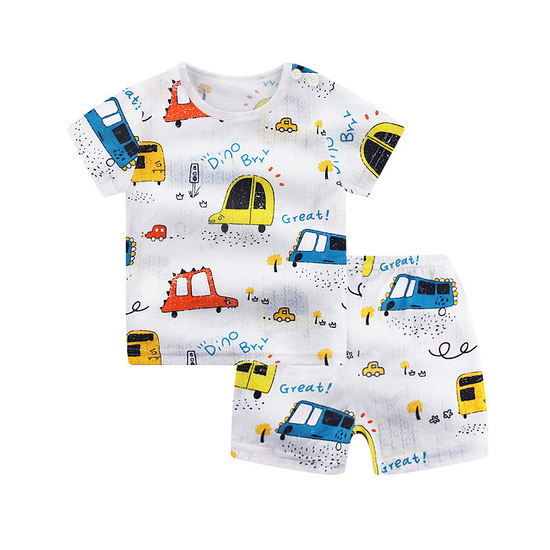 Kids Baby Pajamas Set Infant Bamboo Fiber Cartoon Outfits Kids Clothing Boys Pyjamas Teens Toddler Baby Clothes 060421
